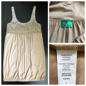 Freeway Dresses - Sequin Taupe Mini Dress